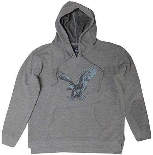 American Eagle Women's Hooded Sweat Jacket Hoodie Grey, Large