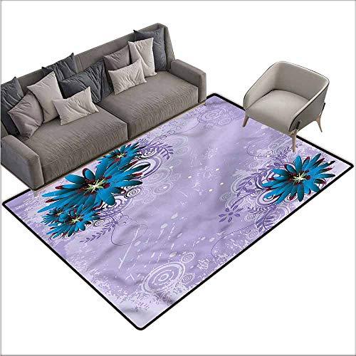 Print Floor Mats Bedroom Carpet Floral,Graphic Ornament Flowers 36