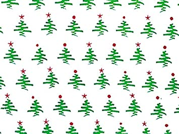 Christmas Cellophane Gift Wrap 40 x 100 Holiday Tree