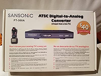 Sansonic FT-300A Digital To Analog TV Converter Box