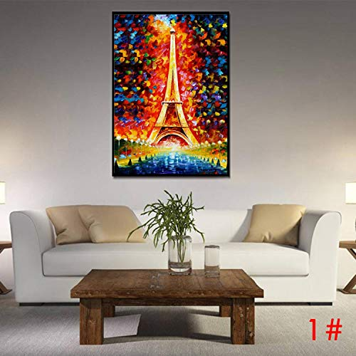 (MYEDO 23.6 x 31.5inch Frameless Print Imitation Oil Painting Home Office Decorations Eiffel Tower)