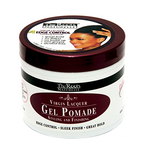 The Roots Naturelle Virgin Lacquer Gel Pomade For Edge Control (4 Oz Jar)