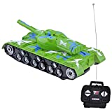 Gimilife Military RC Battle Tank Remote Control Battling Tank Toys for Kids ,Bump and Go Action with Lights and Real Sounds,Green