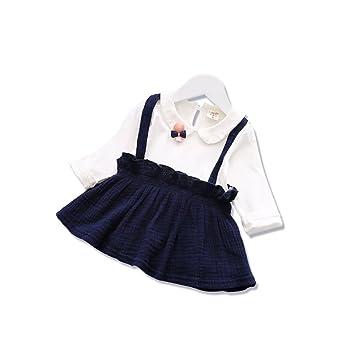 267b950331e53 UNOPRO ワンピース ベビー 女の子 長袖 春 秋 サロペットスカート ベビー ドレス結婚式 発表会 パーティー