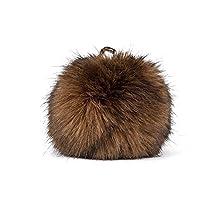 Fake Fur Pompon - Light Brown