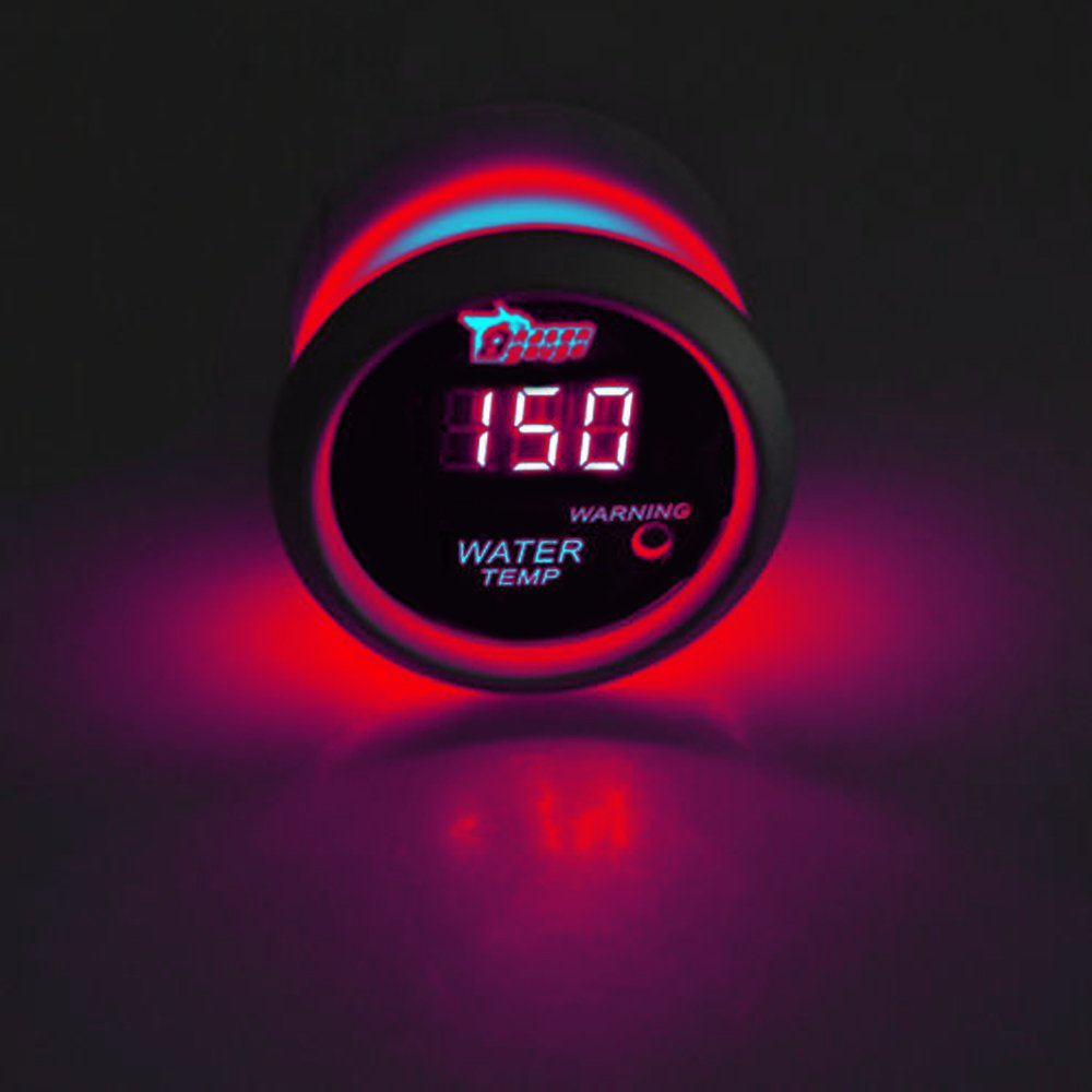 E Support/™ 2 52mm Auto KFZ Rot LED Anzeige Digital Wasser Temperatur Temp Instrument//Instrumente