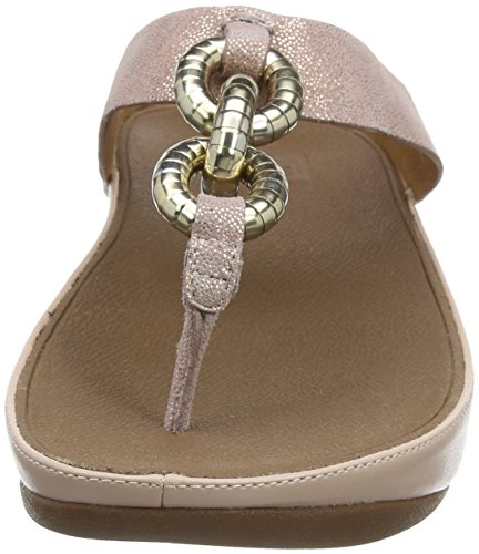 Fitflop Superchain Leather Toe-post - Sandalias Mujer beige (carne)