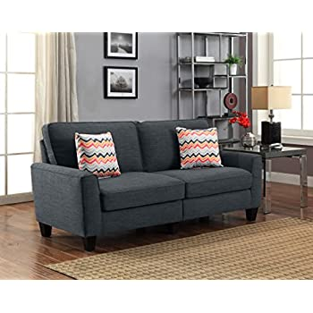 "Serta RTA Astoria Collection 78"" Sofa in City Skyline Charcoal, CR46295P"