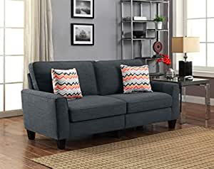 "Serta RTA Astoria Collection 73"" Sofa in City Skyline Charcoal, CR46294P"