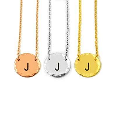 custom letter charm necklace personalized initials necklace initials charm necklace letter pendant necklace