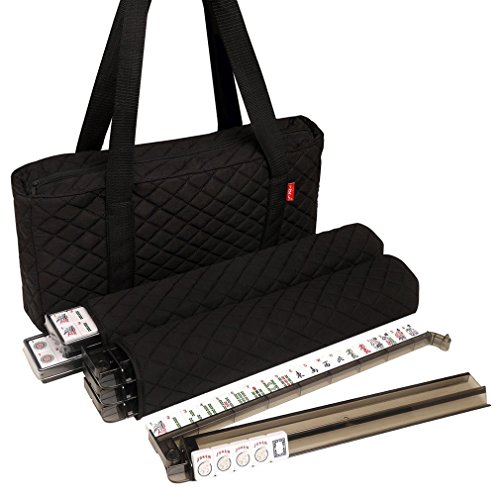 American-Wholesaler Linda Li 166 White Tiles American Mahjong Set with 4 All-In-One Black Soft - Linda Sales
