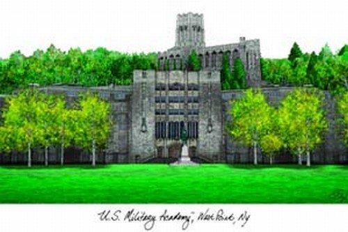 U.S. Military Academy - Military Lithograph