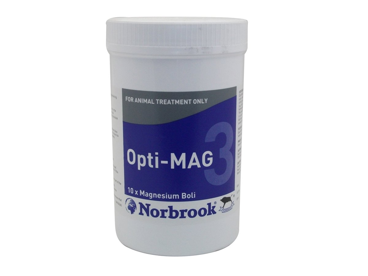 Norbrook Opti-Mag 3 Magnesium Bolus 10 Pack Diet Nutritional Feed Supplement
