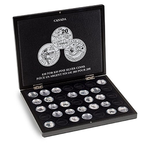 """Lighthouse Presentation case for 35 Canadian """"$20 for $20"""" silver coins"""