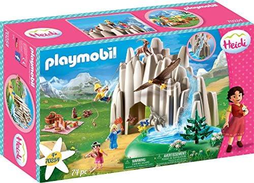 PLAYMOBIL Heidi Lago con Heidi, Pedro y Clara, Incluye Bomba de Agua, A partir de 4 Años (70254)