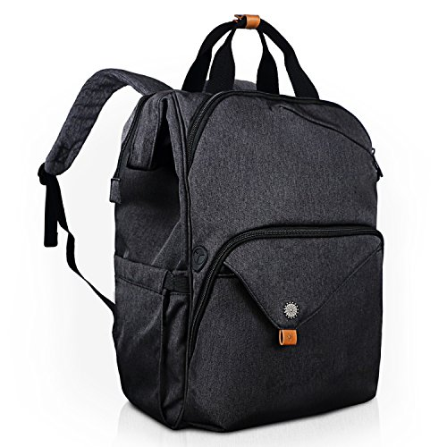 Hap Tim Laptop Backpack 15.6/14/13.3 Inch Laptop Bag Travel Backpack for Women/Men Waterproof School Computer Bag Large Capacity Bookbag for College/Travel/Business (Dark Grey ZF)