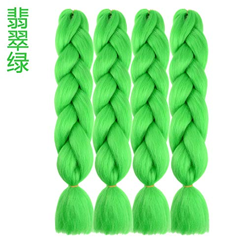 WIG MINE Dreadlock braid wig African dreadlock wig color coded dreadlock hair rope artifact with gradient color small dreadlock color rope hair, emerald green emerald green (Emerald Green Rope)