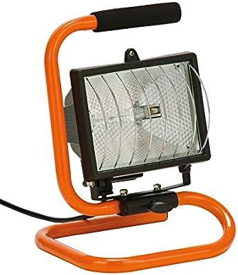 Foco halogeno Reflector 400 W, naranja/negro , Lámpara Camping ...
