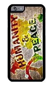 iZERCASE iPhone 6 PLUS Case Rasta Wood Humanity and Peace RUBBER CASE - Fits iPhone 6 PLUS T-Mobile, Verizon, AT&T, Sprint and International