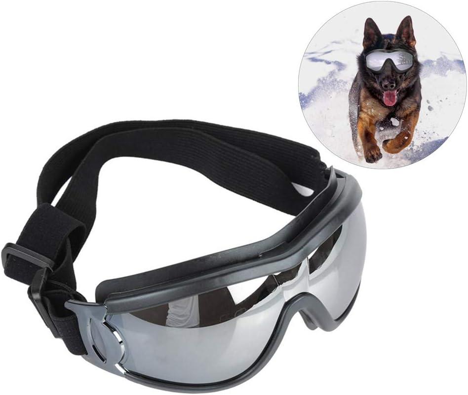 Pssopp Gafas de Sol para Perros - protección UV a Prueba de Viento Impermeable Gafas para Mascotas Gafas para Mascotas Protección para los Ojos Protección para Perros medianos y Grandes
