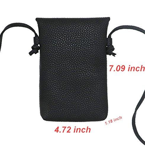 PU S7 with Shoulder Edge Layer Slim LefRight Black J7 7 Plus for Pouch Strap S8 Purse Samsung Small Crossbody 8 5 Bag Leather Note Women 2 Plus X iPhone qAgPvt
