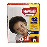HUGGIES Snug & Dry Diapers, Size 5, 25 Count, JUMBO PACK (Packaging May Vary) Image