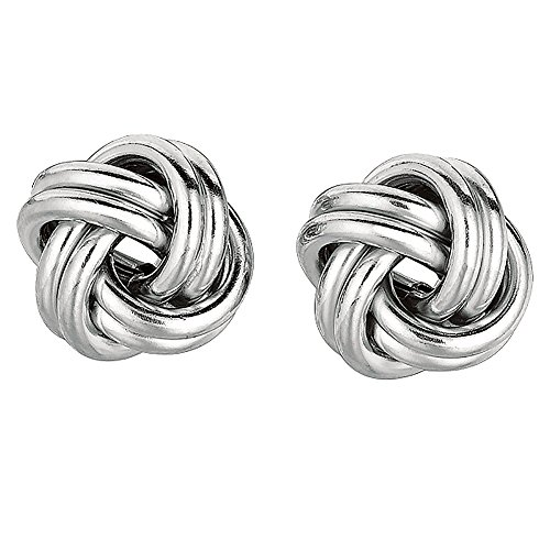 Ritastephens .925 Sterling Silver Large Love Knot Earrings Loveknot Earrings 13.5mm