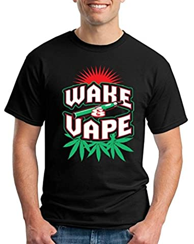 Wake Vape T-shirt Smokers Club Shirts X-Large Black XIT 13125 (Mb Smoker)
