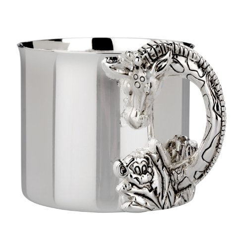 Personalized Sterling Silver Baby Cup - Reed & Barton Silver Plate Giraffe Baby Cup