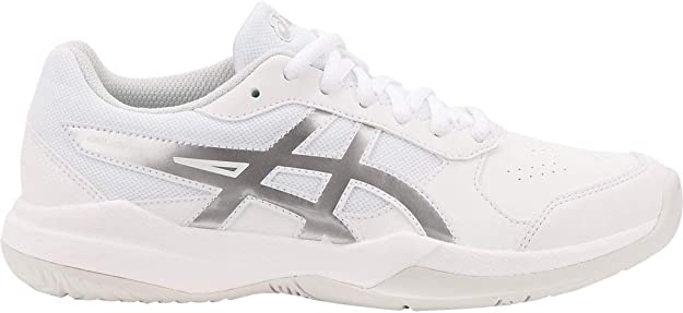 ASICS Kid's Gel-Game 7 GS Tennis Shoes, 4M, White/Silver