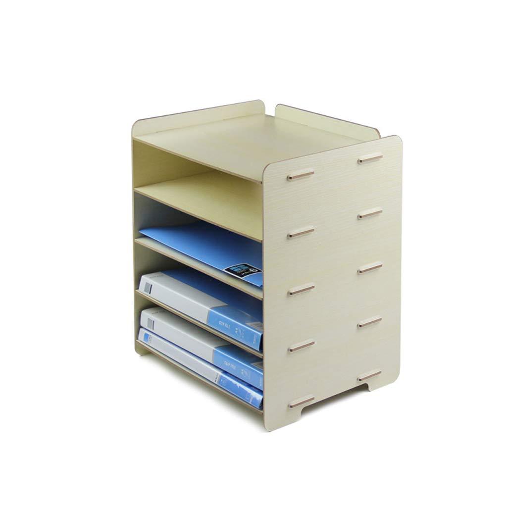 LCSHAN Desktop File Cabinet Creative Fashion Drawer Folder Book Stand Storage Box File Finishing Box (Color : Maple Color)