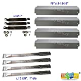 bbq factory® Replacement Charbroil 463248208,463268107,466248208 Gas Grill Stainless Steel Burners, CrossoverTubes, Heat Plates
