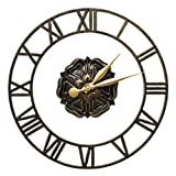Whitehall Products Rosette Floating Ring 21-in. Indoor/Outdoor Wall Clock