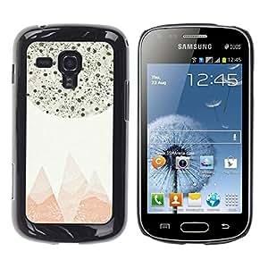 FECELL CITY // Duro Aluminio Pegatina PC Caso decorativo Funda Carcasa de Protección para Samsung Galaxy S Duos S7562 // Abstract Pastel Mountains Stars Sky