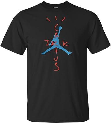 Travis Scott Camisa Cactus Jack Jordan Camiseta de algodón unisex para hombre - Negro - 4X-Large: Amazon.es: Ropa y accesorios