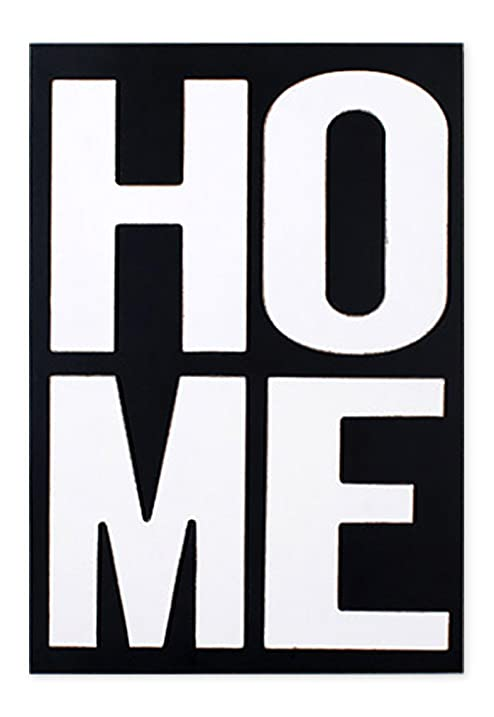 Amazon.com: HOME Letters Black and White 11 x 8.5 Wood Block Wall ...