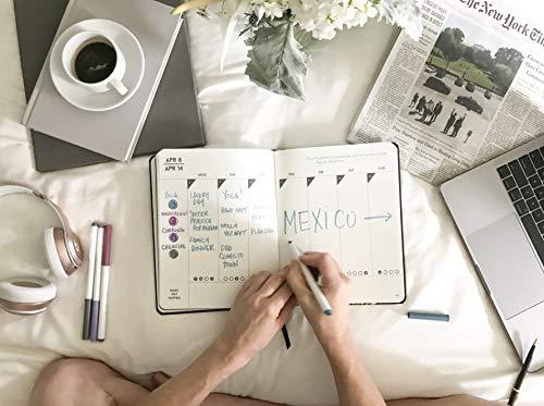 2019 Make Shit Happen Planner - Black + Confetti Foil Cover, Goal Setting Planner and Journal by Meraki Printing (Image #4)