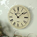 Melody Maison Small Wooden Paris Wall Clock