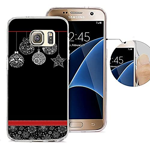 S7 Case Samsung Galaxy S7 Case Viwell TPU Soft Case Rubber Silicone Graffiti Christmas decoration ball Sales