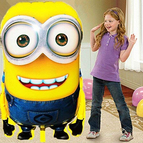 1PCS 92*65cm Hot Sale Minions Inflatable Balloons Despicable Me 2 Large Size Foil Balloons Cartoon Kids Classic Toys S36 -