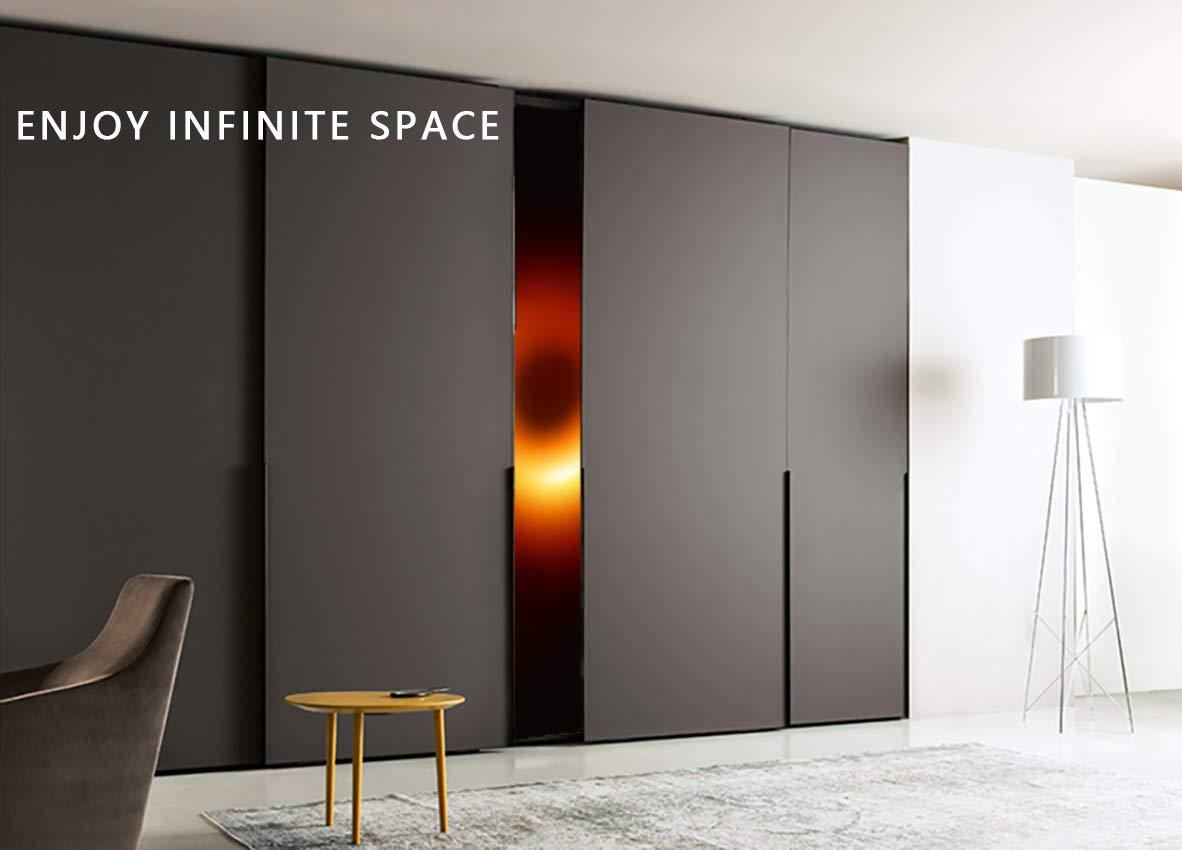 Mishen Magical Space - Juego de 6 perchas cromadas para colgar ropa, de acero inoxidable, ideales para ahorrar espacio