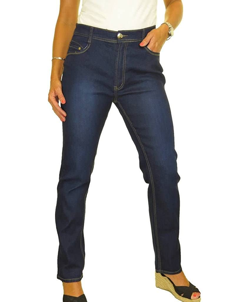 Jeans Icecoolfashion StretchJambes Jean 42 En Haute Droites Taille OwuXiTPkZ