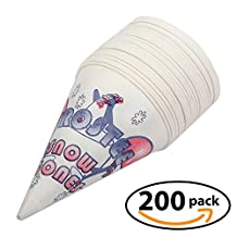 Snow Cone Cups Disposable Heavy Duty (6 Ounce) Case of 200 shaved ice cups - by Carnival Canada