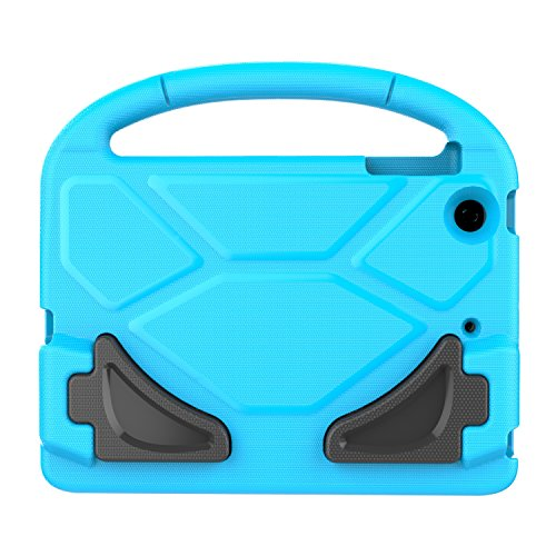 LEDNICEKER Kids Case for iPad Mini 1 2 3 - Built-in Screen Protector Light Weight Shock Proof Handle Friendly Convertible Stand Kids Case for iPad Mini, iPad Mini 3, iPad Mini 2 - Blue by LEDNICEKER (Image #6)