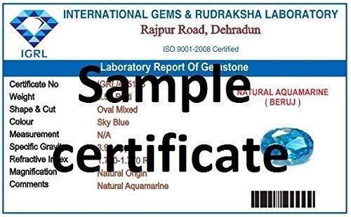 Divya Shakti 9.25-9.50 Carat Aquamarine/Beruj Stone Panchadhatu Pendant 100% Original AAA Quality Gemstone by Divya Shakti (Image #1)