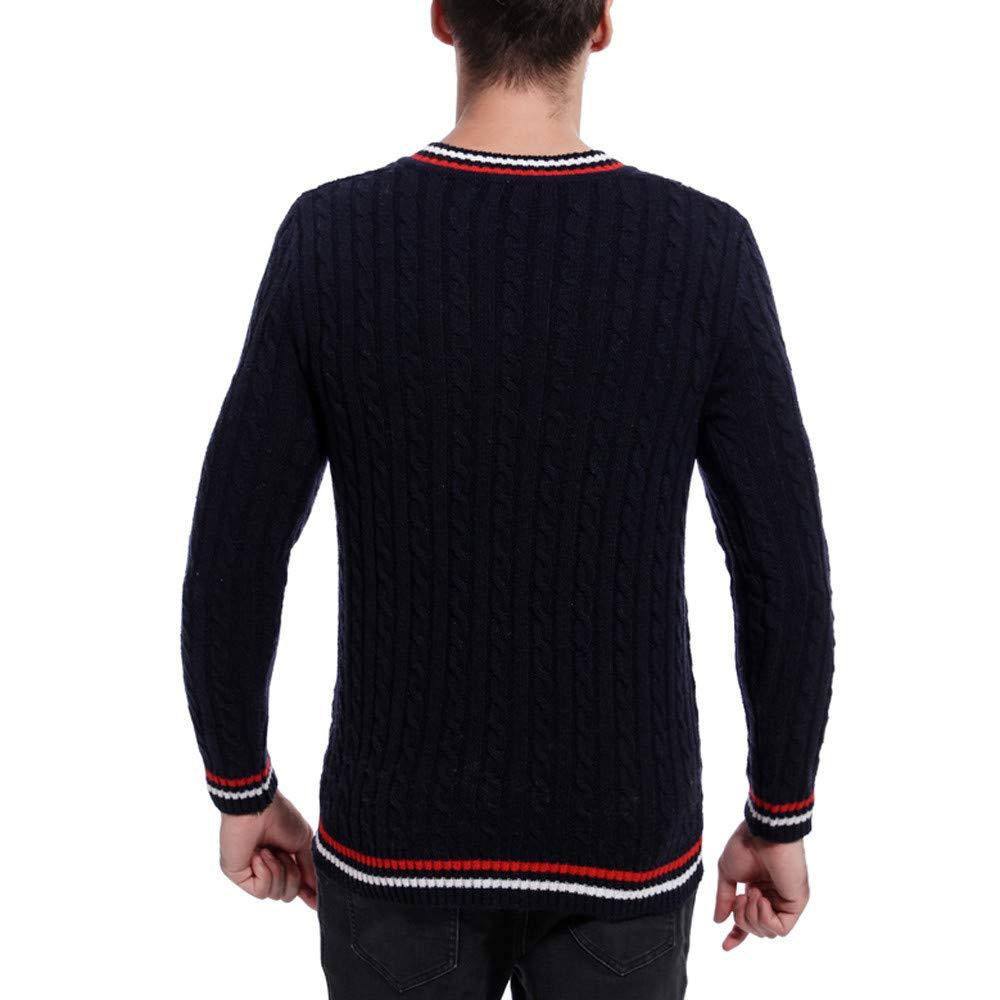Kolylong Suéter para Hombre,Hombres otoño Invierno Jersey Punto ...