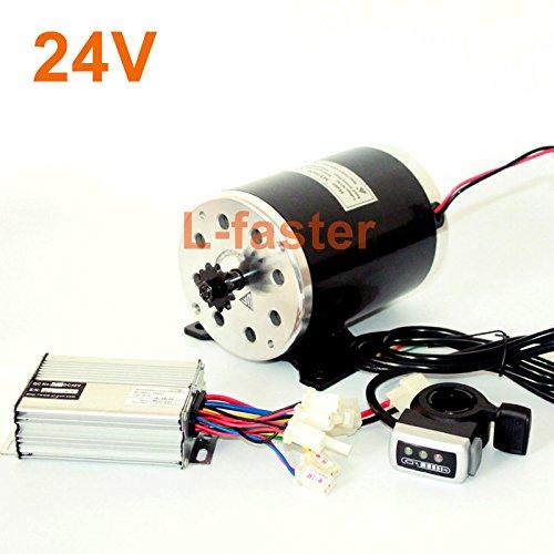 24v36v48v 500ワット電動高速エンジンMY1020起毛モーターで足電動バイク交換モーター使用25 hまたはt8fチェーン B07DLVC8B9 24V thumb kit 24V thumb kit