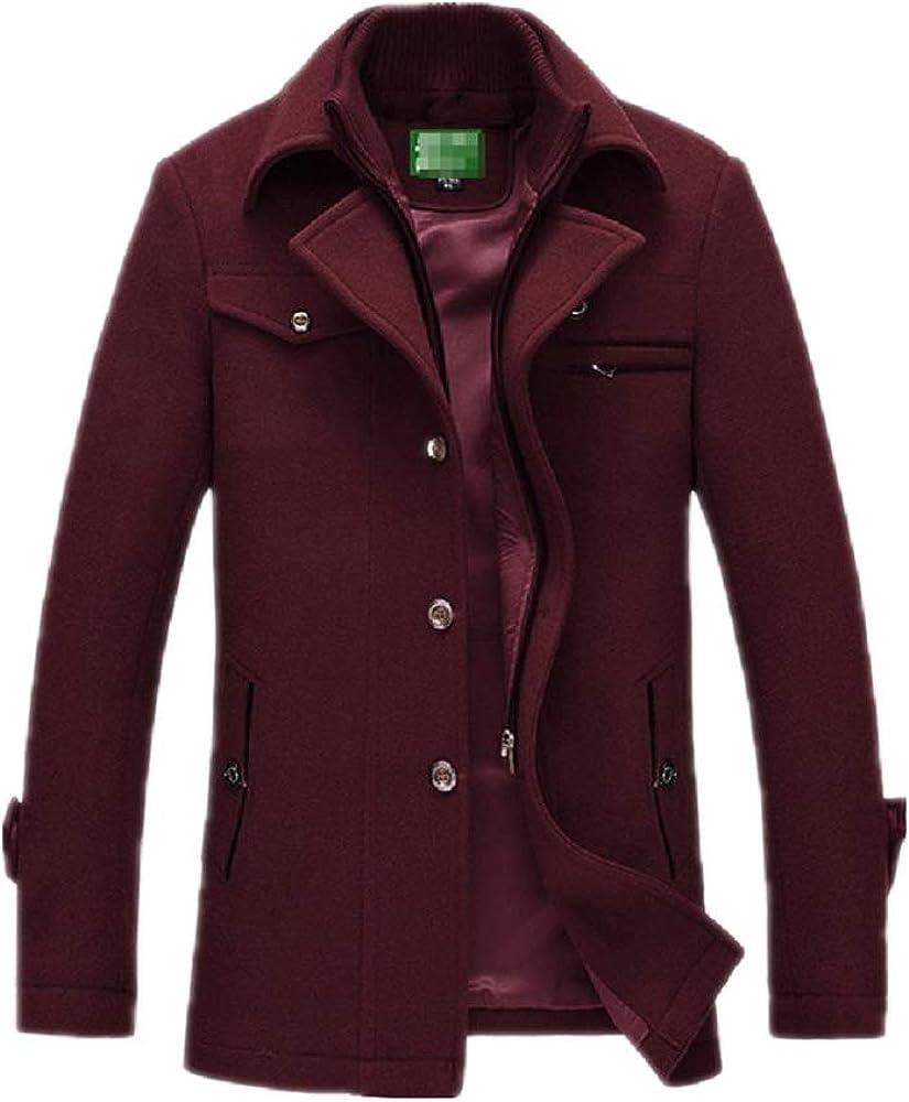 Casual Brand Men Blends Abrigos Otoño Invierno Nuevo Abrigo de Hombre de Color sólido Abrigo de Moda Masculina Tops