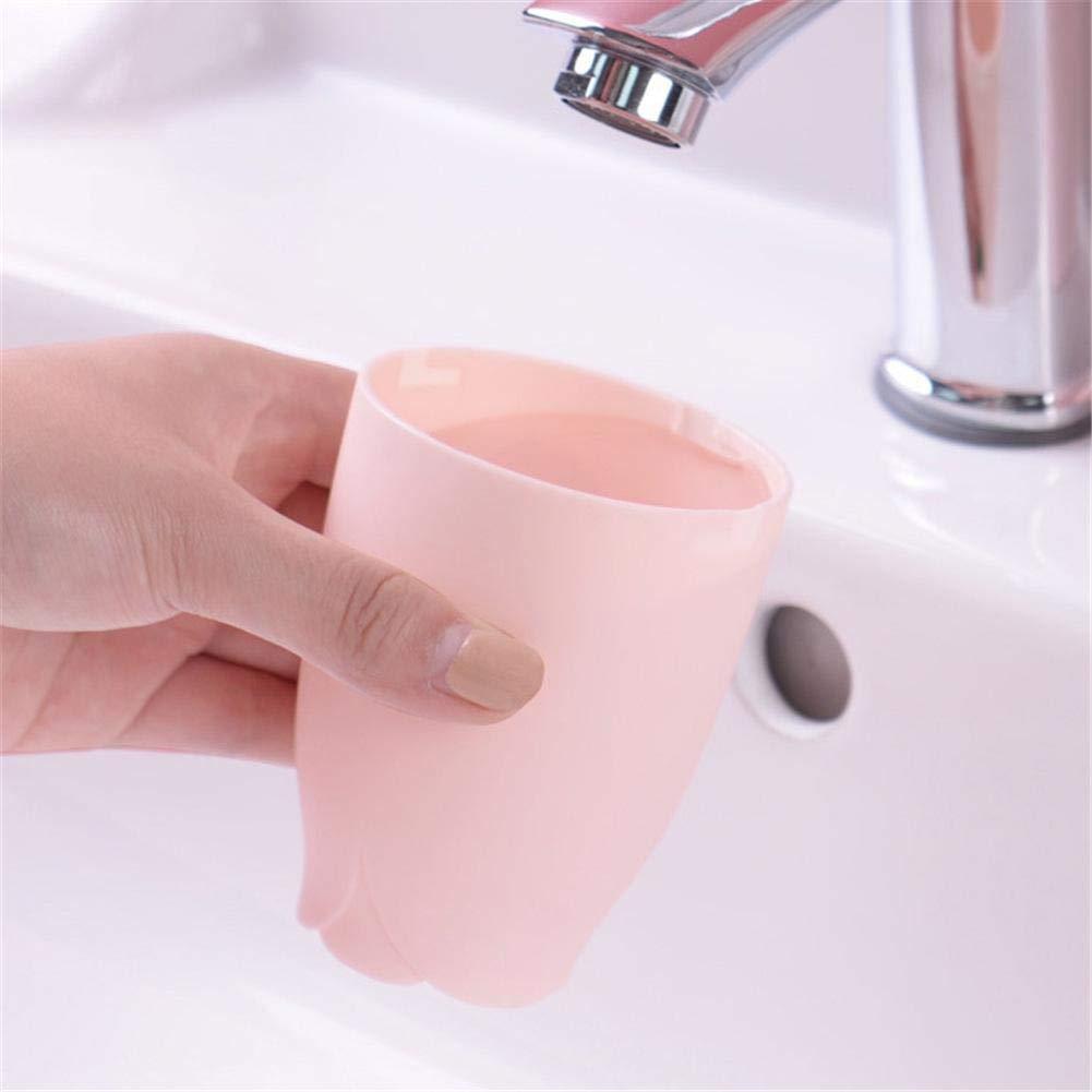 Zahnbecher-Set f/ür drinnen und drau/ßen Kreative Zahnpasta-Aufbewahrungsbox Wetour Zahnb/ürsten-Box rosa tragbare B/ürste