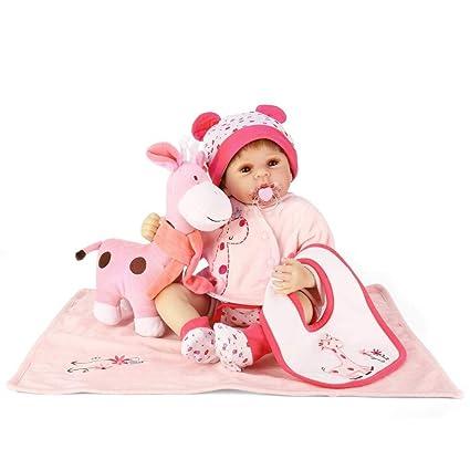 Amazon.es: 50 cm de silicona muñeca renacida bebé bebé ...